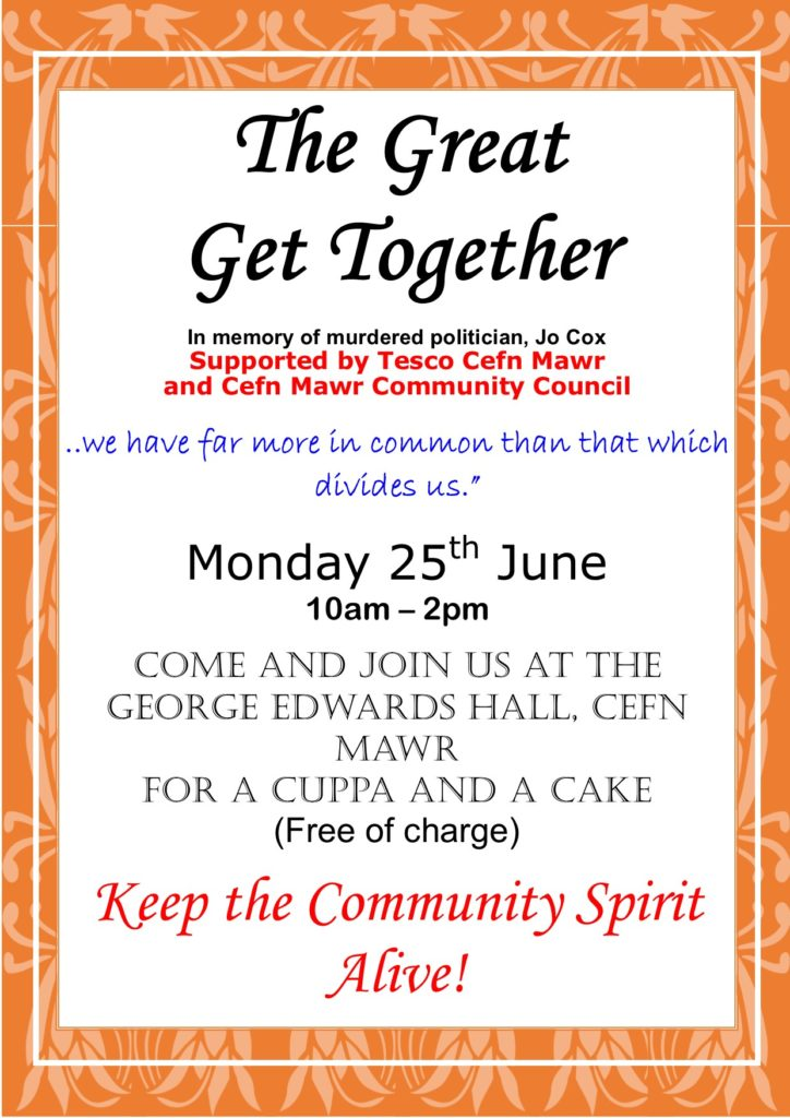 the great get together cefn mawr